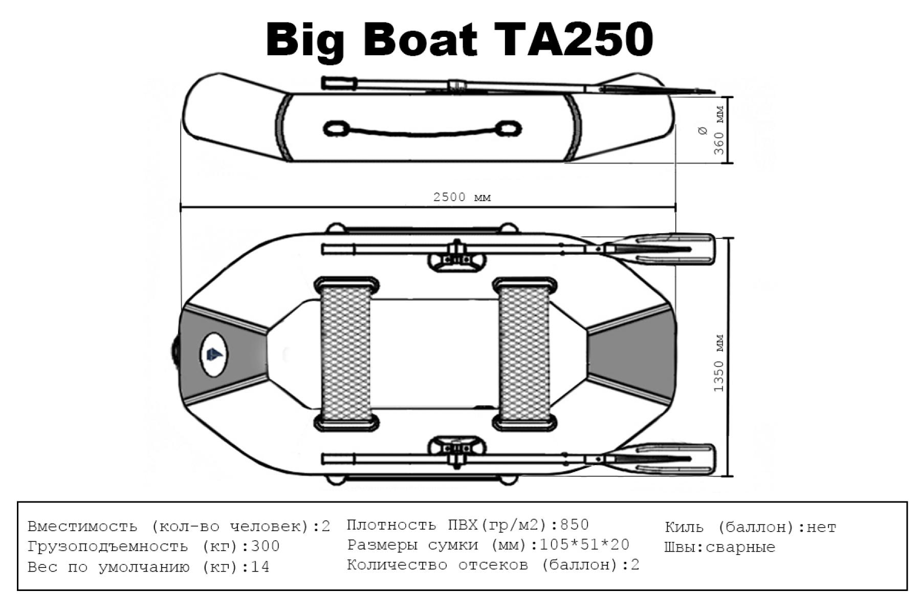 Лодка ПВХ Big Boat ТА250