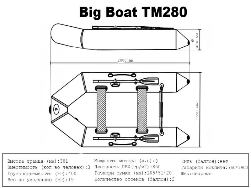 Лодка ПВХ Big Boat TM280