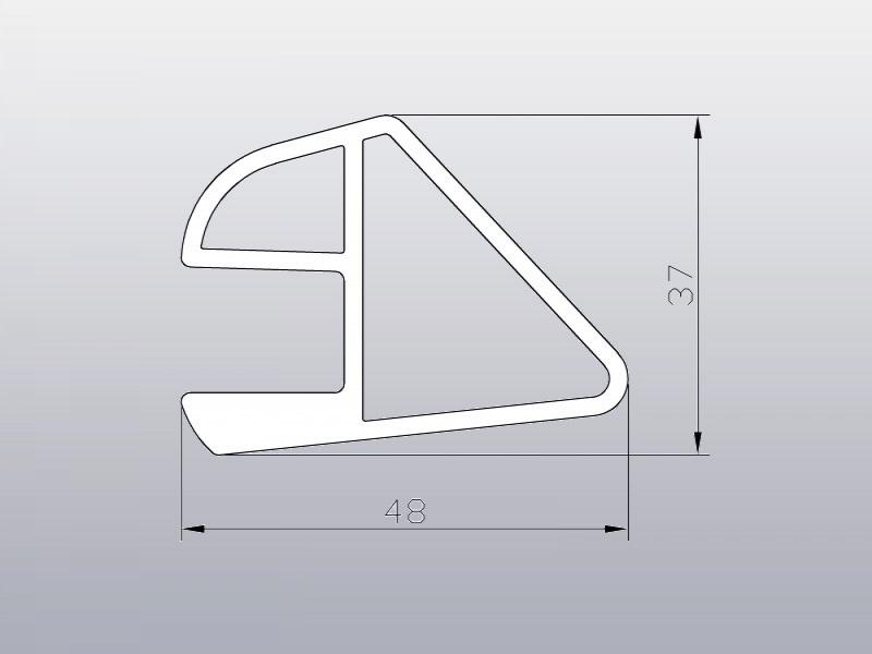 Стрингер алюминиевый для жесткого пола 9/1000 мм